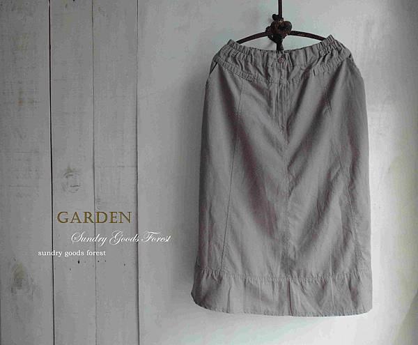 什貨森林 田園 自然風格 韓製 條碼 棉鬆緊素A字裙