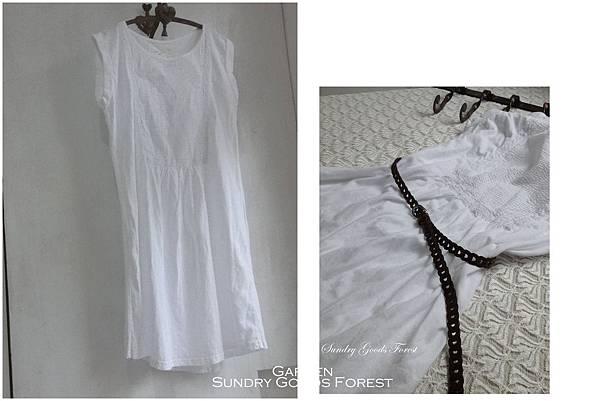 什貨森林 自然 無印風格 韓貨 前襟細折素棉洋裝