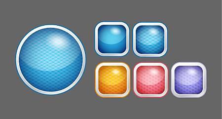 Illustrator-外觀、繪圖樣式-網頁、按鈕:重新上色