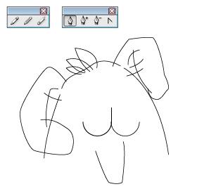 Illustrator、線稿、鉛筆、鋼筆、線條:線稿01