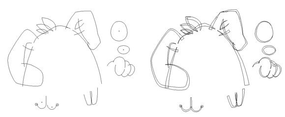 Illustrator、外框、線條:線稿03
