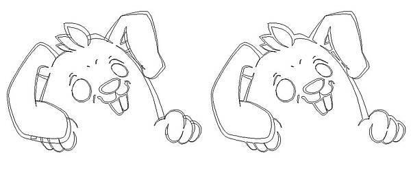 一二珊躲隻貓、123HiddenCat、Adobe Illustrator、外框