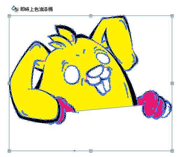 一二珊躲隻貓、123HiddenCat、Adobe Illustrator、即時上色:上色02