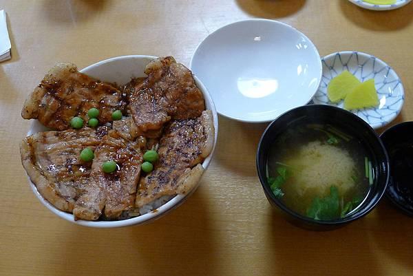 元祖豚丼的番長烤肉飯和湯