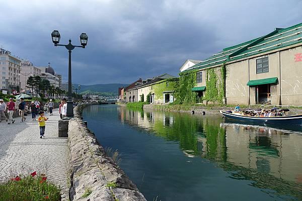 小樽運河與油燈