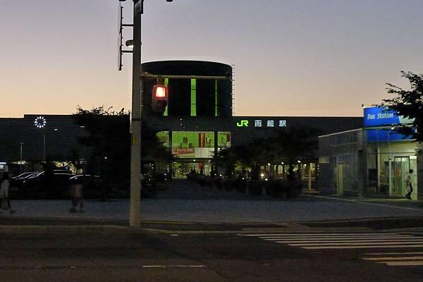 函館車站晚上6點45分