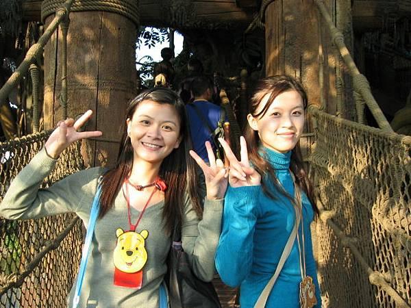 我們在泰山的樹屋上