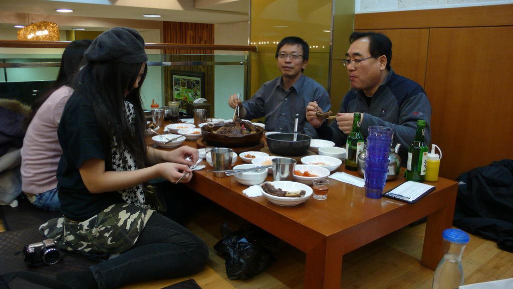 在韓國用餐