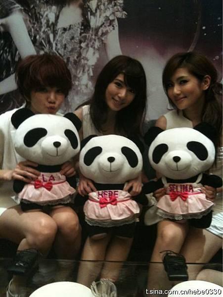 S.H.E.和熊猫们
