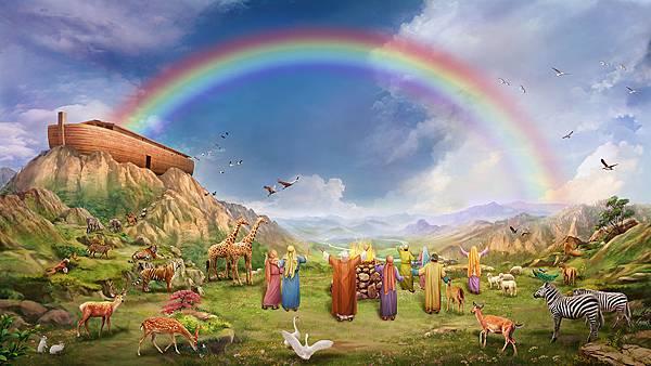 002-挪亚一家八口看到彩虹欢呼雀跃-160415.jpg