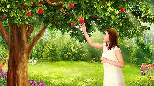 001-夏娃摘善恶树上的果子-160929.jpg
