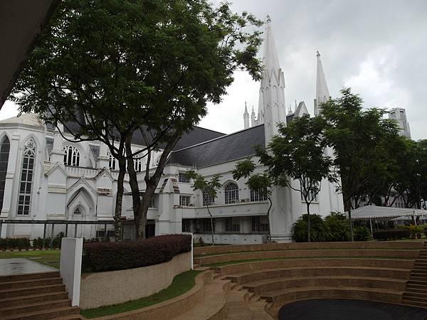 新加坡Singapore❤政府大廈City Hall-走過英國殖民地盤(聖安德烈教堂、市政廳、舊高等法院、藝術大廈、亞洲文明博物館、加文納橋、安德森橋)。