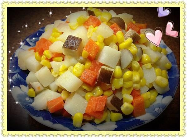 馬鈴薯香菇玉米粒