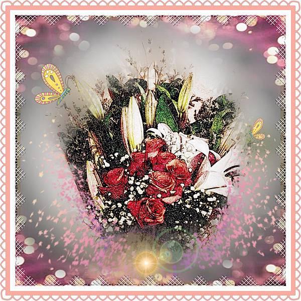 玫瑰花&百合花