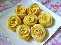 玫瑰造型饅頭