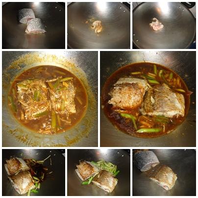 紅燒鱸魚過程