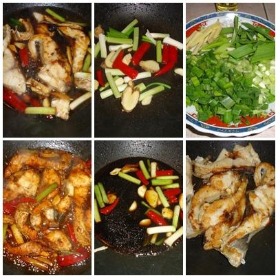 燒草魚過程