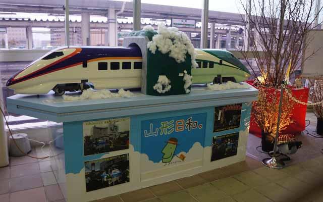 a34山形站的火車擺飾.JPG