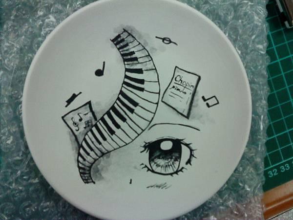 瓷盤創作(正面)