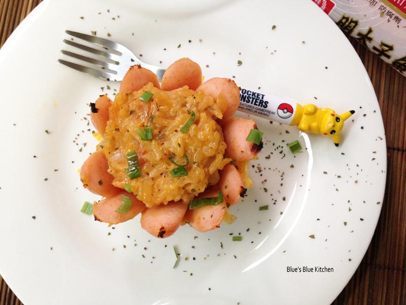 明太子魚香腸烤飯盅-net