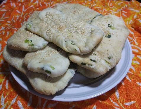 發麵蔥燒餅