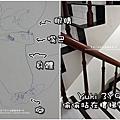 2011-1014-Yuki-3Y9M-樓梯邊畫青蛙.jpg