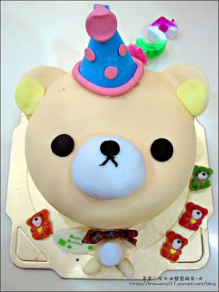 2012-1225-Yuki 5Y生日- 拉拉熊的妹妹-牛奶妹蛋糕 (2)