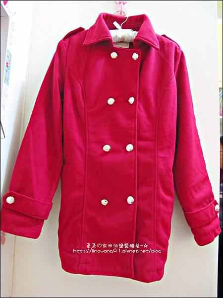2013-1025-OB嚴選-皇家質感雙排釦毛呢腰綁帶長版外套 (3).jpg