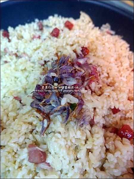 2015-1203-美國米-糙米-越光米-洋地瓜香腸炊飯 (13).jpg