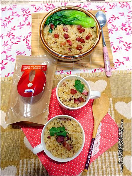 2015-1203-美國米-糙米-越光米-洋地瓜香腸炊飯 (18).jpg
