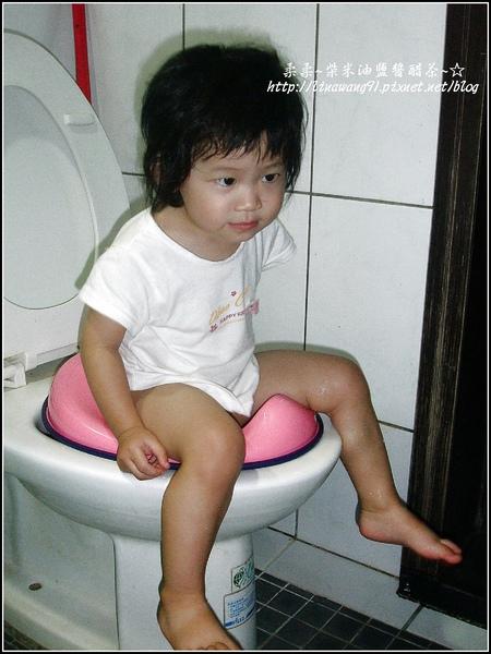 再次訓練YUKI 坐小馬桶-2009-0703 .jpg