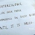 水彩+沾水筆