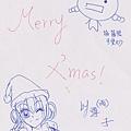雪子聖誕明信片_背面