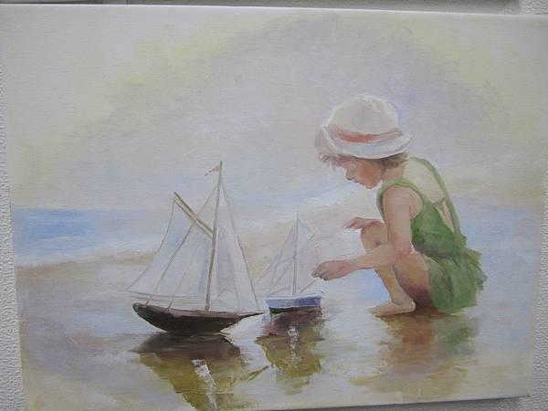 九月和十月的油畫