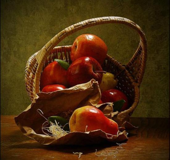 apple-realistic-paintings-Giuseppe Muscio