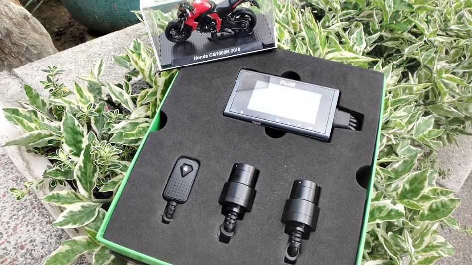 飛樂Philo機車族必看開箱-馬路三寶剋星R3 720P機車行車紀錄器前後雙鏡頭無線wifi連線