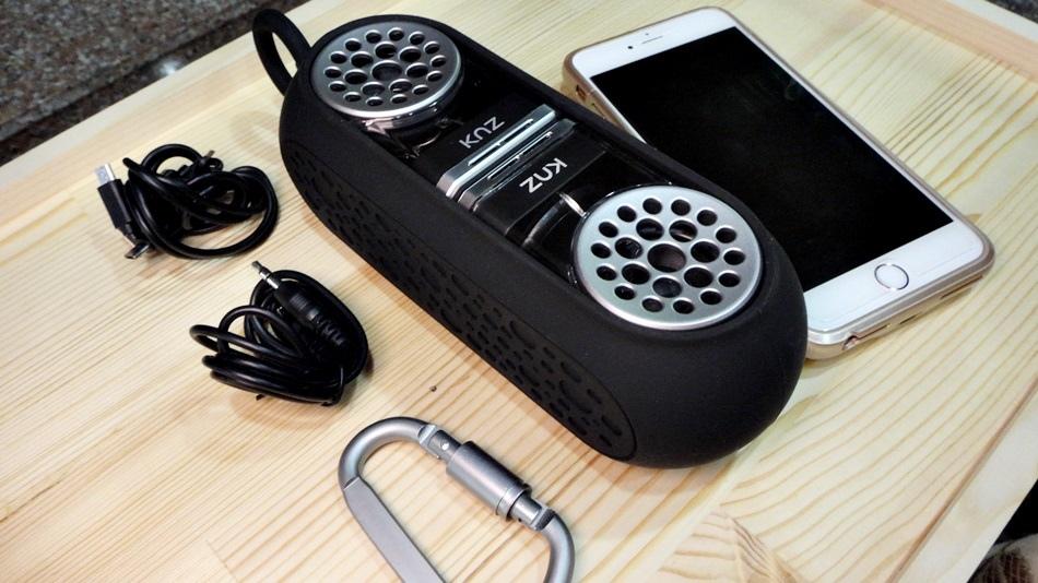 3C開箱-美國 Knz GoDuo無線磁吸音響衛星喇叭重低音可持續播放18小時藍芽驅動可外接音源2018年IF設計大獎