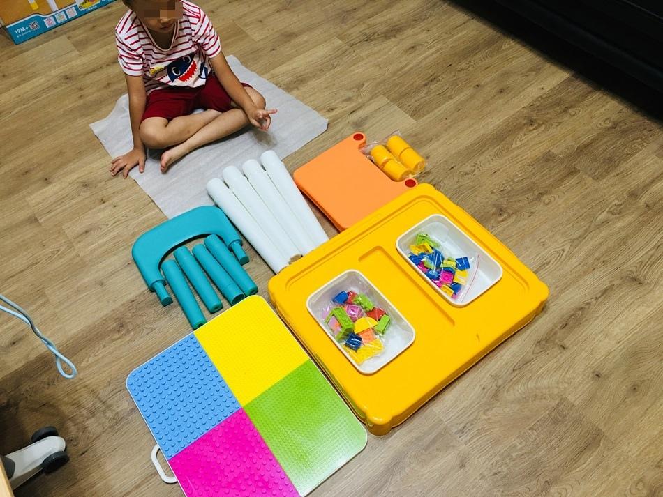 台南親子-多功能積木學習桌兒童遊戲桌與樂高積木兼容可調整高度收納功能UTmall親子商城