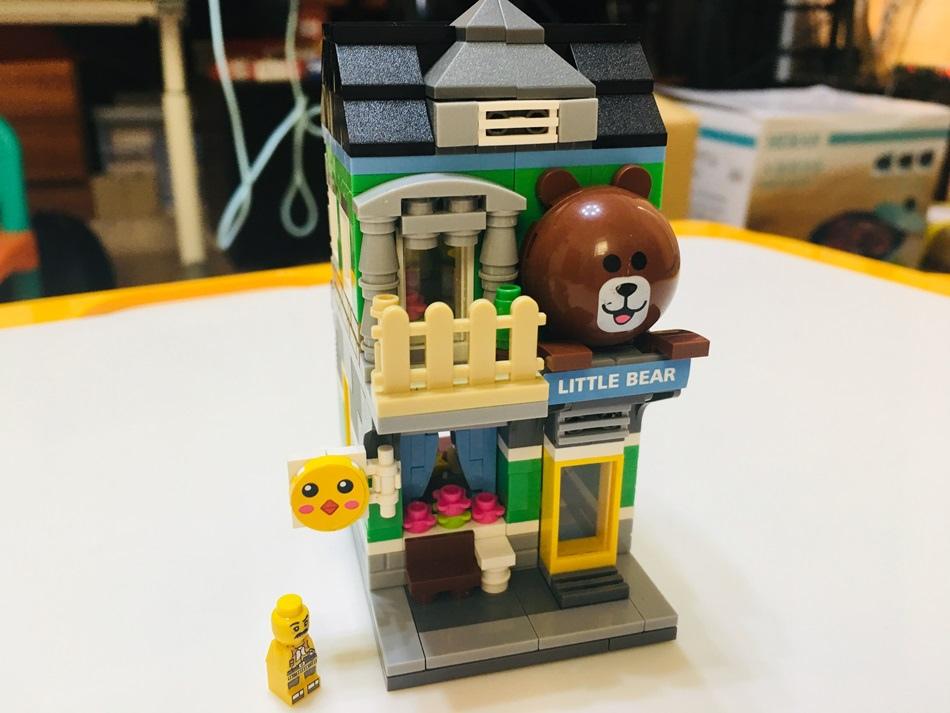 台南親子積木UTmall親子商城城市迷你街景系列商店街景小顆粒積木ABS環保材質無毒無味兼容樂高積木