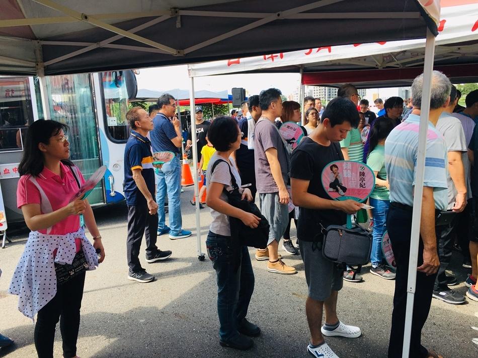 2019年台南捐血熱血愛很大搶救血荒回社慈善會號朝台南市民一起捲起袖子捐出熱血