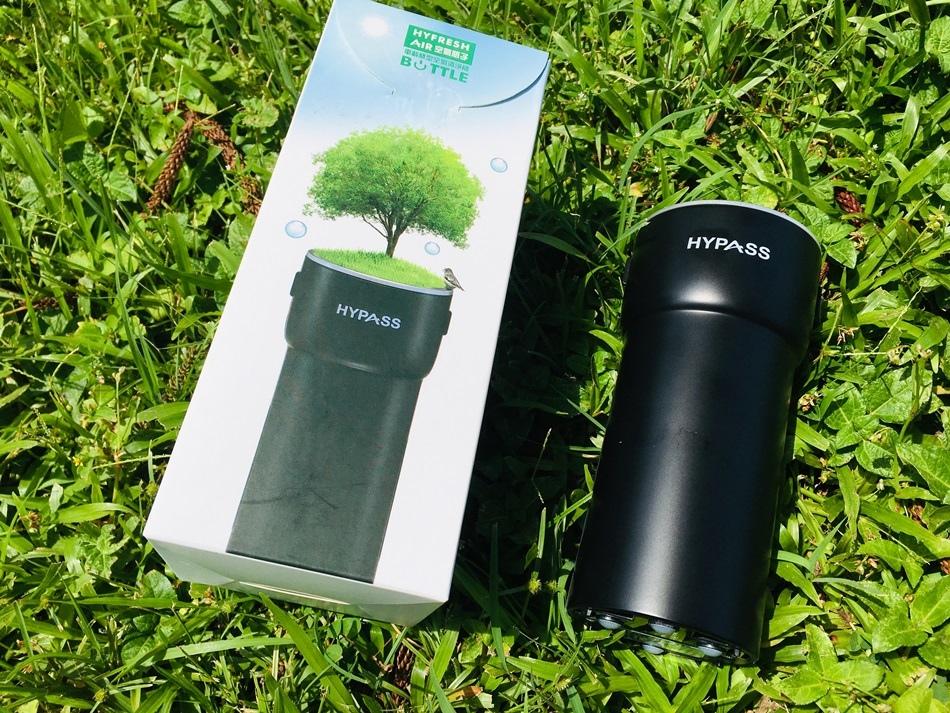 台灣製造最佳車用空氣清淨機推薦HYPASS 空氣瓶子個人車載型空氣清淨機有效阻隔PM2.5與PM0.3在車內一樣也可以享受森林芬多精