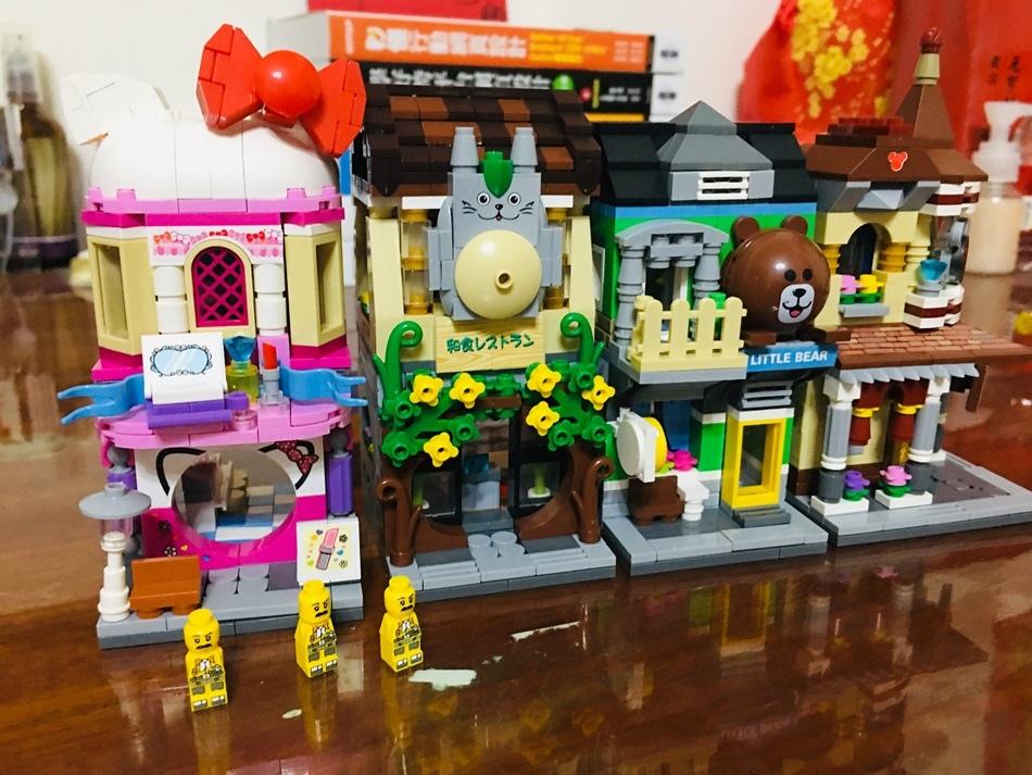 兼容樂高積木推薦UTmall迷你街景系列日式餐館街景LOZ迷你鑽石小積木日式餐館街景開箱
