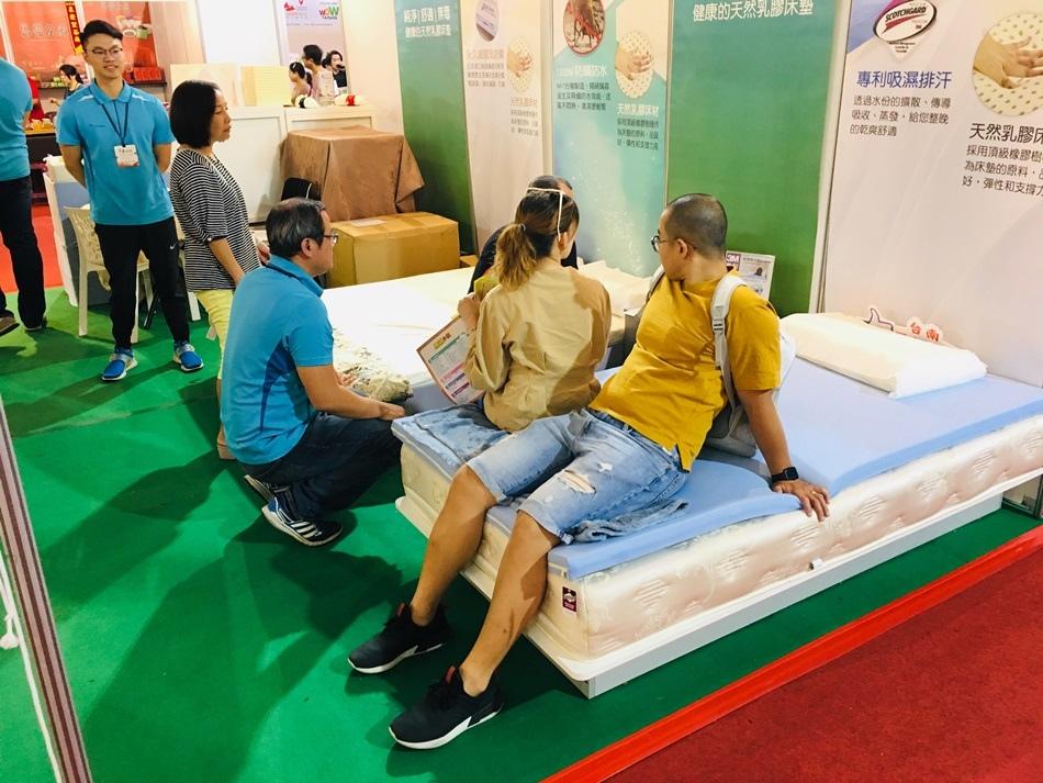 2019台南商展Sonmil舒蜜爾天然乳膠床墊教我如何挑選適合全乳膠床墊!立刻購買兩顆全乳膠枕頭