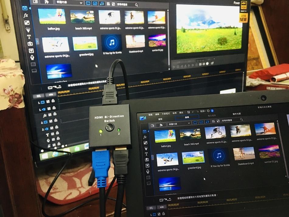 易控王影音切換器網路線材領導品牌HDMI雙向選擇器切換器一對二、二對一支援3D1080P與4K畫質訊號