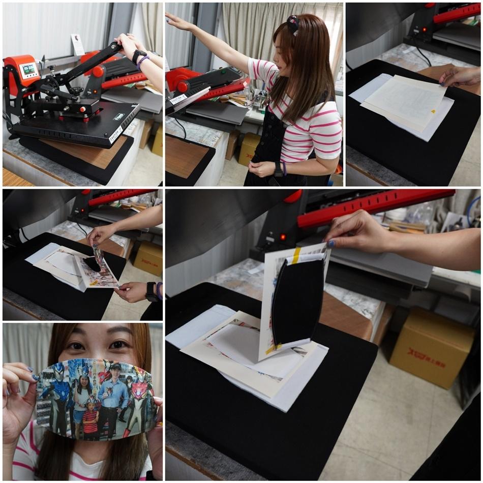 客製化口罩轉印流程-熱轉印機
