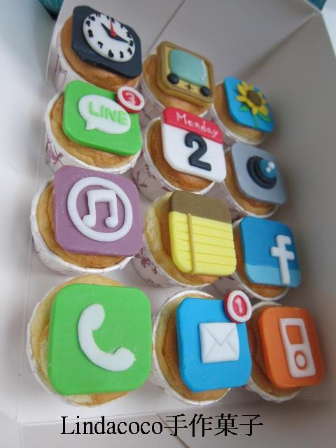 I phone 杯子蛋糕