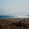 冬天南灣 孤獨的椅子。