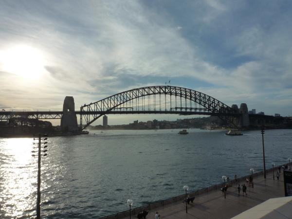夕陽中的雪梨大橋.JPG