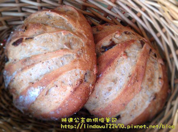 雜糧核桃桂圓麵包