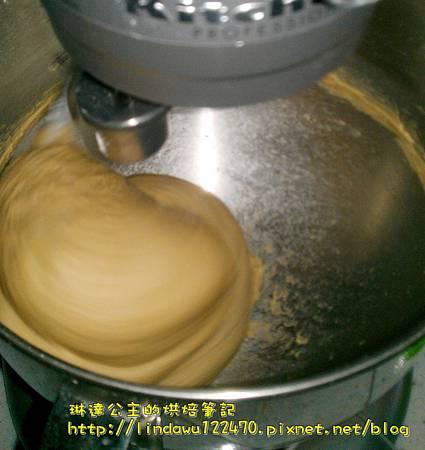 咖啡核桃吐司-攪拌4